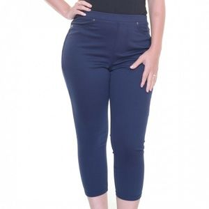 Style & Co Small Industrial Blue Capri 9AT58